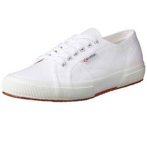 Superga white sneakers slip on